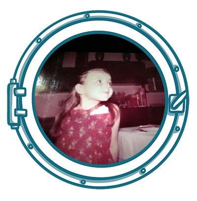 Monica Farina, velista, da bambina